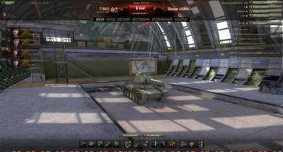 Танки в ангаре в два ряда для World of tanks 0.9.12